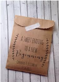 Media Personalized Love Is Sweet Rustic Wedding Favor Bag Brown Kraft Paper Bag Wedding T Bags