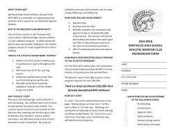 Membership Form Berthoud High School Athletic Boosters Club