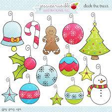 christmas ornaments clipart. Fine Ornaments Cute Christmas Ornament Clipart 1 On Ornaments