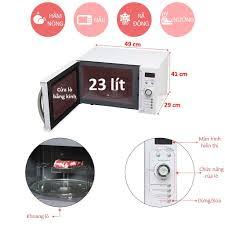 Lò vi sóng inverter có nướng 23L Sharp R-G371VN-W - Miễn phí vận chuyển &  lắp đặt toàn miền Bắc - Bảo hành chính hãng - Mediamart