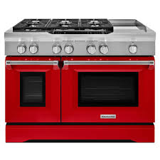 kitchenaid 6 3 cu ft dual fuel range double oven with convection oven in signature