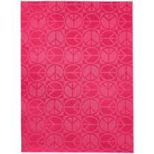 garland large peace pink 5 ft x 7 ft area rug