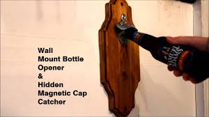 magnetic bottle opener and cap catcher. Fine Bottle Wall Mount Bottle Opener With Hidden Magnetic Cap Catcher In And