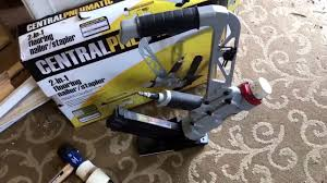 harbor freight hard wood floor nailer stapler central pneumatic revie w after1100 sf floor
