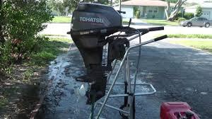 tohatsu hp shortshaft stroke tiller outboard motor