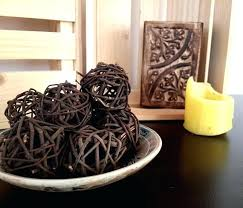 Decorative Bowl Filler Balls Decorative Bowls With Balls Brown Decorative Balls Farmhouse Style 75
