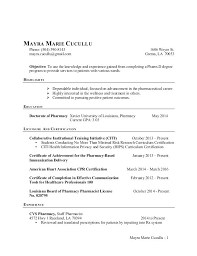 Pharmacist Resume Template Mesmerizing Pharmacy Resume Sample Pharmacist Resume Sample Good Resume Unique
