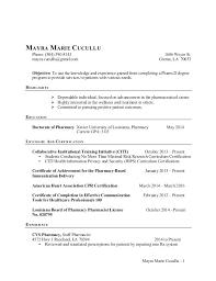Pharmacist Resume Template Mesmerizing Pharmacy Resume Sample Pharmacist Resume Sample Good Resume Unique