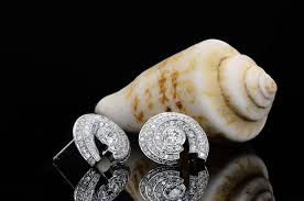 white round brilliant halo stud earrings 1 60ct tw