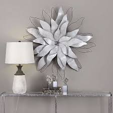 new large 39 galvanized sheet metal wire flower wall art modern sculpture