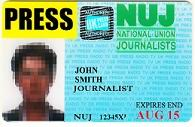To Journalists Police Union Recognise - Of Card National Told Press