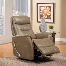 parker house gemini glider swivel recliner in linen leatherette tap to expand