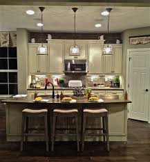Kitchen. . U Shape Kitchen Decorating Using Clear Glass Crystal Mini  Pendant Light Over Kitchen Pictures