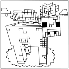 Small Picture Printable Minecraft Mooshroom coloring pages Coloring Kids