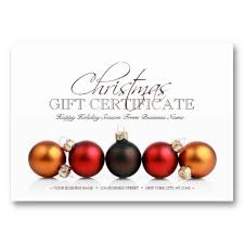 Holiday Gift Card Template Christmas Holiday Season Gift Certificate Template Gift