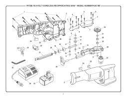 ryobi saw parts. rjc180 - cordless reciprocating saw parts schematic ryobi t