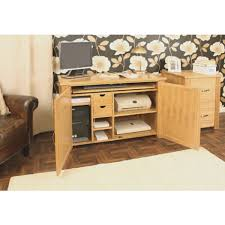 atlas chunky oak hidden home. oak desk hideaway with doors open atlas chunky hidden home i