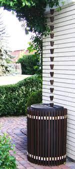 Rain Chain over a Barrel