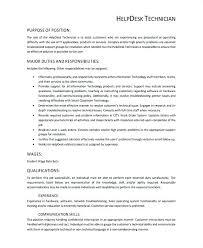 Help Desk Technician Resume Desktop Support Technician Resume Sample Or Technician Resume Sample