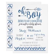 Oh Boy Tribal Baby Shower Invitation Zazzle Com