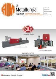 La Metallurgia Italiana Ottobre 2019 By Aimnet3 Issuu