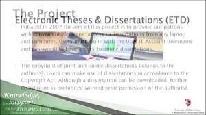 university of library guidelines to electronic theses and  university of library guidelines to electronic theses and dissertations etd