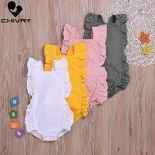 <b>Chivry Baby Girls Bodysuit</b> Summer Ruffles Sleeveless Bodysuit ...