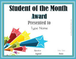 Star Of The Month Certificate Template Student Of The Month German Student Of The Month Student Star