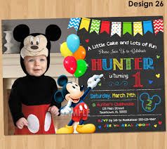 mickey mouse clubhouse invitations for special birthday party mickey mouse invitation birthday