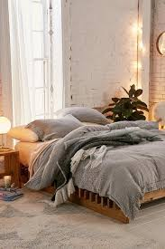 fall bedroom decor. cozy fall bedroom with grey embroidered duvet cover - ideas decor s