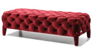 Oslo Bedroom Furniture Modern Red Velour Tufted Oslo Bedroom Bench Zuri Furniture