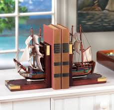 Ship Wooden Bookends Travel Themed Decorating Ideas