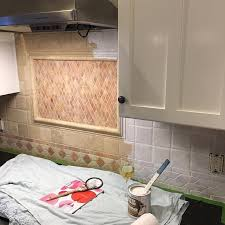 how to paint your tile backsplash painting over mosaic tiles