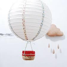 tutorial diy paper lamp hot air balloon mobile