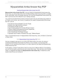Figure Drawing Design And Invention 6th Edition Myspanishlab Arriba Answer Key Pdf Tsjdhs Com Pages 1 4