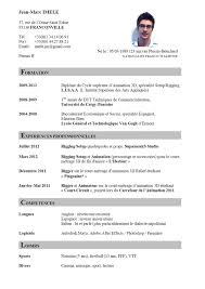 French Resume Examples Resume Francais Enderrealtyparkco 3