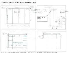 murphy bed desk plans cool white combo diverting diy pdf