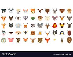 Animal Icon Animals Icon Set Flat Style