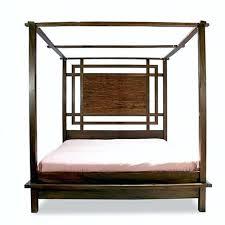 Canopy Platform Bed Java Finish Platform Canopy Bed Diy ...