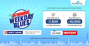 This lucrative deal is sure to eliminate people's fears of fridays, especially those who fear 'friday the 13th'. Easemytrip Com The Kind Of Monday Blues You Can T Resist Book Travel Tickets Save Up To Rs 17 500 On Payment Through Hdfc Bank Credit Cards Use Code Hdfcemt Hurry Book