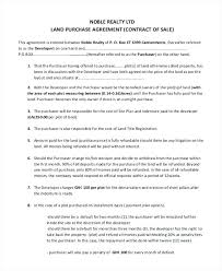 Land Contract Agreement Business Purchase Simple Form Sample ...