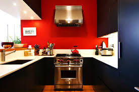 modern small kitchen color design ideas red grey and white for paint