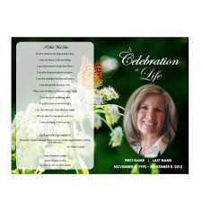 Memorial Program Templates Free Butterfly Memorial Program Funeral Pamphlets 16