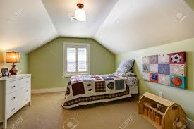Simple Bedroom Simple Bedroom Interior With Vaulted Ceiling And Light Green