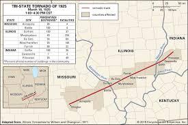 Tri State Tornado Of 1925 History Path Facts Britannica