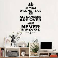 Wall Decor Quotes Best Sailing Quote Ship Navy Wall Sticker Living Room Decor Decal Vintage