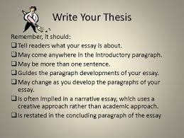developing thesis statement the writing center  developing thesis statement