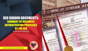 Red Ribbon Documents Summary Of Document Authentication Processes