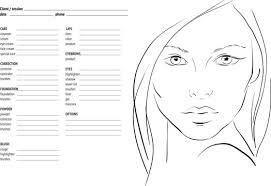 makeup face charts photos royalty free