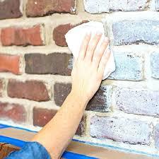 fireplace brick cleaner brick fireplace cleaner wiping paint on brick red brick fireplace cleaning brick fireplace